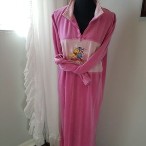 Disney Long Velor Nightgown Pink Medium
